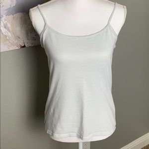 5/$20 🌸 LOFT Camisole White Silver Stripes